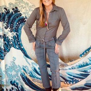 NWT Zara grey flight suit/jumpsuit size Small
